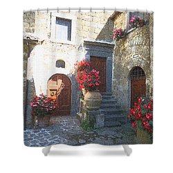 Doors In Bagnoregio Shower Curtain by Barbie Corbett-Newmin