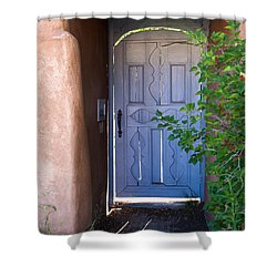 Shower Curtain featuring the photograph Doors Of Santa Fe by Roselynne Broussard