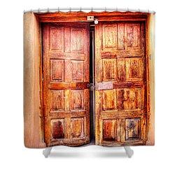 Doors To The Inner Santuario De Chimayo Shower Curtain by Lanita Williams