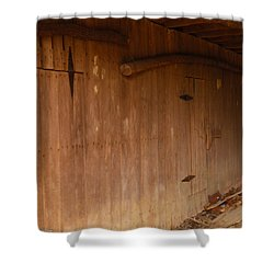 Shower Curtain featuring the photograph Doors To The Past by Nick Kirby