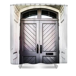 Doorway At Morris Avenue Shower Curtain by Shelby  Young