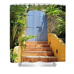 Doorway To Paradise Shower Curtain by Fiona Kennard