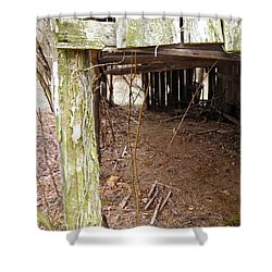 Shower Curtain featuring the photograph Doorway To The Past by Nick Kirby