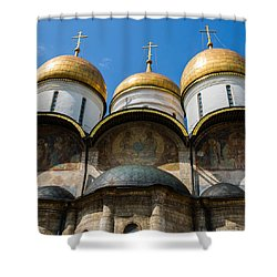 Dormition Cathedral - Square Shower Curtain by Alexander Senin