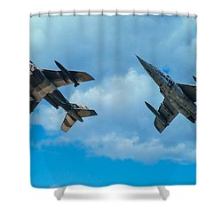 Dornier Alpha Jets Shower Curtain by Bianca Nadeau