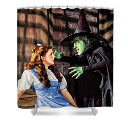 Dorothy And The Wicked Witch Shower Curtain
