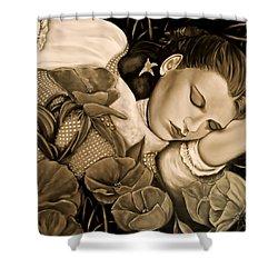 Dorothy's Sleep Sepia Shower Curtain