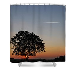 Shower Curtain featuring the photograph Dorset Dawn by Wendy Wilton