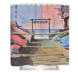 Dory Fishing Fleet -newport Beach Shower Curtain