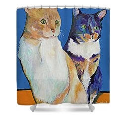 Dos Amores Shower Curtain by Pat Saunders-White