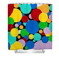 Dot Graffiti Shower Curtain by Art Block Collections
