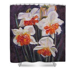 Double Daffodil Replete Shower Curtain