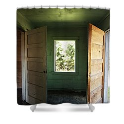 Double Entry Shower Curtain
