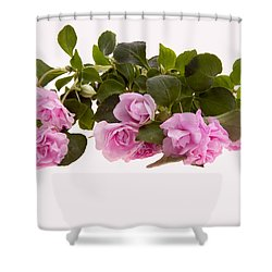 Double Impatiens Shower Curtain