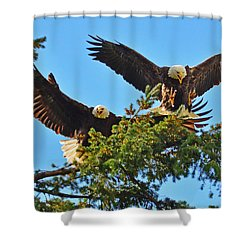 Double Landing Shower Curtain by Jack Moskovita