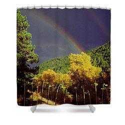 Double Rainbow Autumn Shower Curtain