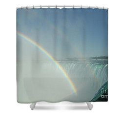 Shower Curtain featuring the photograph Double Rainbow by Brenda Brown