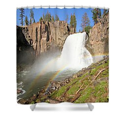 Double Rainbow Falls Shower Curtain