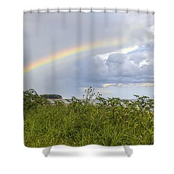 Double Rainbow Sheffield Island Shower Curtain