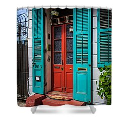 Double Red Door Shower Curtain