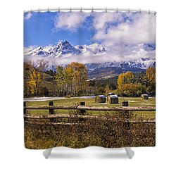 Double Rl Ranch Shower Curtain by Priscilla Burgers