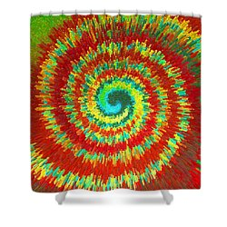 Double Spiral  C2014 Shower Curtain