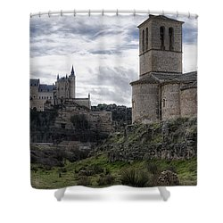 Double The View Shower Curtain by Joan Carroll
