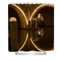 Shower Curtain featuring the photograph Double Tunnel by John Wadleigh