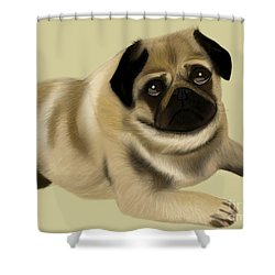 Doug The Pug Shower Curtain