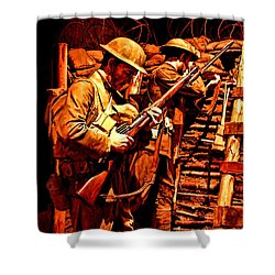 Doughboys  Shower Curtain by Tommy Anderson