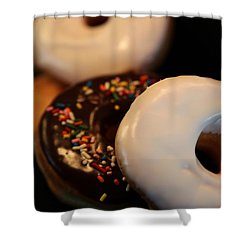 Doughnut Roll Shower Curtain by Karen Wiles