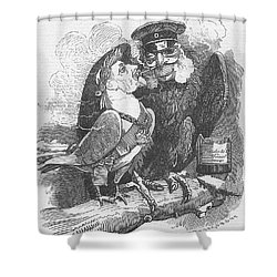 Dove Of Peace Editorial Art Shower Curtain
