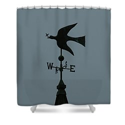 Dove Weathervane Shower Curtain by Ernie Echols