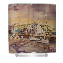 Dover Marina In Uk Shower Curtain