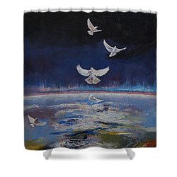 Doves Shower Curtain by Michael Creese
