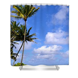 Down By The Ocean In Hawaii Shower Curtain by Lehua Pekelo-Stearns