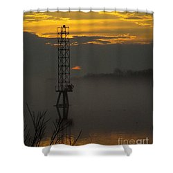 Shower Curtain featuring the photograph Down By The River by Robyn King