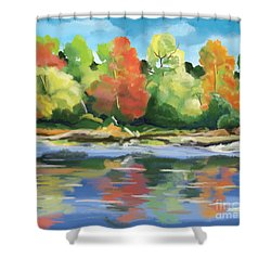 Down By The River Shower Curtain by Tim Gilliland
