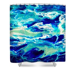 Down By The Seaside 1 Shower Curtain