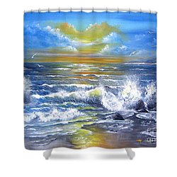 Down Came The Sun  Shower Curtain by Patrice Torrillo