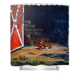 Down On The Farm Shower Curtain by Lee Piper