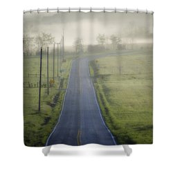 Down Roads Unknown Shower Curtain by Bill Cannon