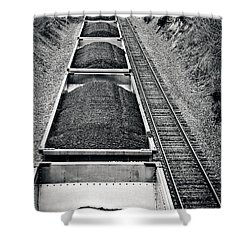 Down The Line Shower Curtain