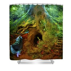 Down The Rabbit Hole Shower Curtain by Aimee Stewart