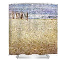 Shower Curtain featuring the photograph Down The Shore by Debra Fedchin