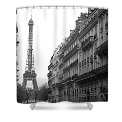 Shower Curtain featuring the photograph Down The Street by Lisa Parrish