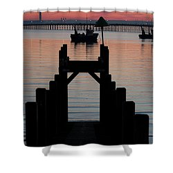 Down To The Sunset Sea Shower Curtain