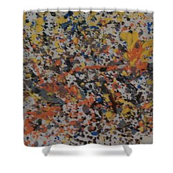 Shower Curtain featuring the painting Down With Disease by Thomasina Durkay