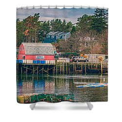 Downeast Shower Curtain by Guy Whiteley