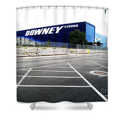 Shower Curtain featuring the photograph Downey Studios Last Photo by John King